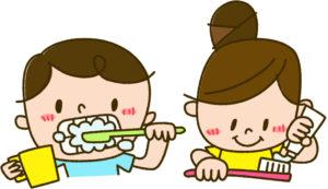 子どもたちの歯磨き